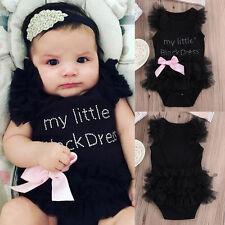 Newborn TUTU DRESS Cute Kids Baby Girl Infant Bodysuit Jumpsuit Clothes Outfits