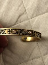 "ALEX AND ANI Raphaelian Gold ""LOVE"" Cuff Bracelet ~ NWOT!"