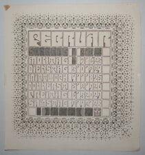 Ver Sacrum calendar 1903 original woodcut Art Nouveau Wiener Werkstatte RARE