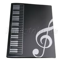 40 Page Music Sheet File Paper Documents Storage Folder Holder PVC Plastic A4
