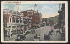 POSTCARD BRADFORD PA MAIN ST JOHN D. KOPP TAILOR & BUSINESS STORE FRONT 1910'S