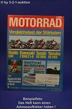 Motorrad 16/78 Honda CBX Kawasaki Z1R Suzuki GS Yamaha