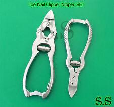 "Toe Nail Clipper Nipper SET 5.5"" & 6"" /Podiatry /Pedicure Manicure Nail Beauty"