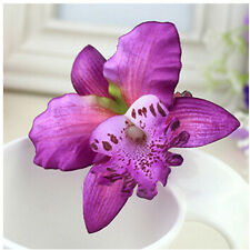 2X Bridal Wedding Orchid Flower Hair Clip Barrette Women Girls Accessories PB