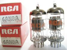 2 matched 1970s RCA 6AN8A tubes - Grey/Grey Plates,Silver Shield,Top Disc Getter