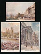 London x5 artist John Fulleylove signed used 1907 PPCs Regal Art Rapco cards