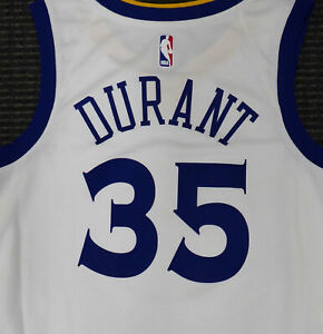 KEVIN DURANT UNSIGNED WARRIORS WHITE NIKE SWINGMAN JERSEY SIZE L 177422