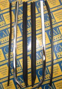 1966-1967 GM A Body Quarter Window Vertical Sash Chrome & Seals. 6 Piece Set