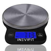 INEVIFIT DIGITAL KITCHEN SCALE  Highly Accurate Multifunction Food 13 lbs 6kgs M