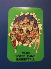 Notre Dame Basketball 1979-80 Pocket Schedule