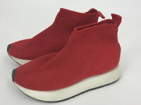 Zara Kids Shoes Size 31 US 13 Red Sneakers High Top Slip On