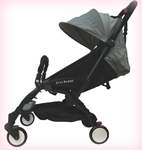 21st Buggy Pocket  Lightweight Easy handling Easy Folding Portable Stroller Grey