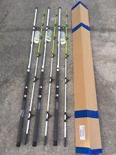 3 Rod Case Zebco Big Cat XT 10' Spinning Rod 2-8oz Lure Surf Pier or Catfish