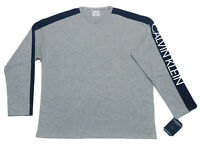 Calvin Klein Men's Loungewear Relaxed Fit  Long Sleeve T Shirt in Grey