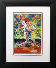 """LeRoy Neiman """"The Slugger- Mike Schmidt """" CUSTOM FRAMED ART Baseball Phillies"""