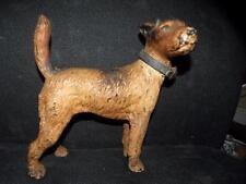 ANTIQUE HUBLEY FOX TERRIER DOG DOORSTOP door stop