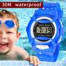 Children Girls Boy Analog Digital Sport LED Electronic Waterproof Wrist Watch