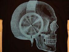 Old Navy Skull Headphones Music Song Black T Shirt S