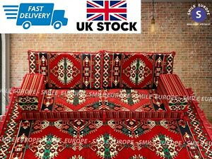 Arabic Majlis Sofa Reversible (2 side) Ottoman Seating Floor Cushions & RUG