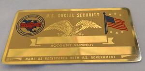 AFL-CIO US Social Security Metal Card Tag NOS VTG Perma Products
