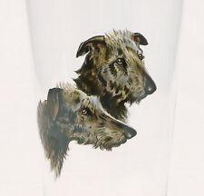 Becher Trinkglas Emailmalerei sign. Hund Hütehund Schäferhund Böhmen Czech