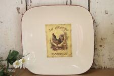 Rooster Square Serving Plate Platter La Cucina Natural Global Amici Gallo Bello