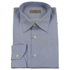 Canali Mens Shirt Blue/White Needle Stripe BNWT UK 40 - 15.75 Made in Italy £149