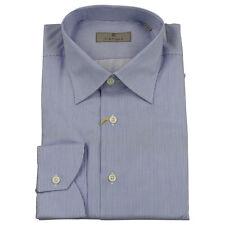 Canali T-shirt homme bleu / Blanc Aiguille rayure neuf avec étiquette UK 44 -