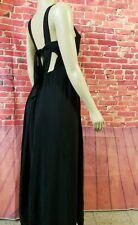 Anthropologie Maeve Black Backless Maxi Dress Size Medium