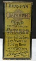 BUNSEN'S CATARRH CURE WITH BOX AND CIRCULAR - CHICAGO