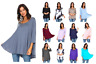 Women's 3/4 Sleeve Casual Loose Fit Flare Flowy T Shirt Tunic Top Blouse S-3X