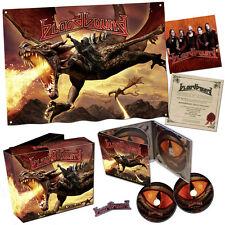 Bloodbound War Of Dragons autographed box set boxset w/ coa pin sticker flag 2cd