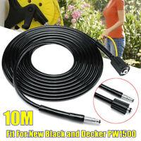 10M Hoch Hochdruckreiniger Schlauch PVC Stahl Draht 16Mpa Für Schwarz Decker Neu