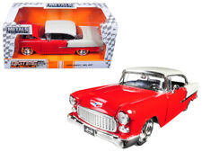 1/24 Jada 1955 Chevrolet Bel Air Red w Top Trunk White BigTime Muscle Red 98938
