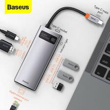 Baseus USB C Hub 8in1 PD RJ45 Ethernet 4K HDMI SD microSD MacBook iMac Adapter
