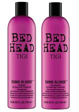TIGI Bed Head Dumb Blonde Shampoo 750ml + Reconstructor 750ml Tween Duo