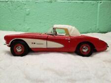 New ListingFranklin Mint 1957 Corvette Roadster Convertible 1:24 Model Car Rare Black Walls