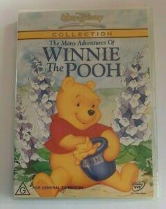The Many Adventures of Winnie the Pooh Disney Kids PAL DVD R4 VGC