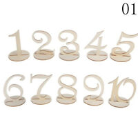 10X 1-10/11-20 Wooden Table Numbers Set+Base Birthday Wedding Party Decor Gift `