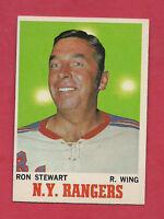 1970-71 TOPPS # 64 RANGERS RON STEWART  NRMT+  CARD