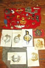Big Collection of Vintage Military Insignia, Pins, Wings, USMC EGA's, Etc!!