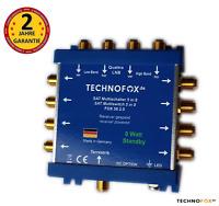 5/8 SAT Multischalter Verteiler FOX 2.0 4K UHD HDTV FullHD 2 Jahre Garantie
