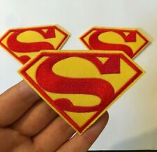"""1 piece Superman Logo Embroidered Iron On Patch new around 2.5"""""""