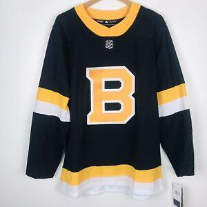 Adidas Boston Bruins Authentic Alternate NHL Hockey Jersey Men Size 50 ED7642