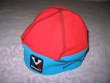 Millet Medium Windstopper Red Blue Vintage cap hat skully winter ski hiking NWT
