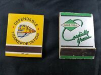 LOT OF 2 COLLECTIBLE RAILROAD MATCHBOOKS-UNION PACIFIC RAILROAD-ILLINOIS CENTRAL