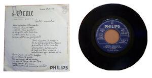Vinile 45 giri – Le Orme - Verità nascoste/Regina al Traubadour – Philips 6025