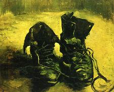 Schuhe Schnürsenkel abgelaufen Impressionismus Bütten Vincent van Gogh A3 048