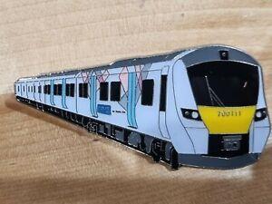 Thameslink 700 111 - NHS Train Enamel Brooch Pin Badge