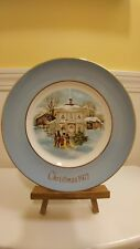 """Christmas Plate Series 5Th Edition """"Carollers In The Snow"""" Vintage 1977 Preowned"""
